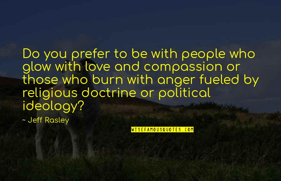 Religion Politics Quotes By Jeff Rasley: Do you prefer to be with people who