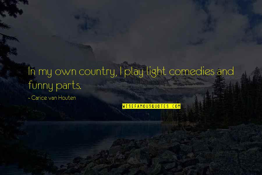 Religious Studies Abortion Quotes By Carice Van Houten: In my own country, I play light comedies