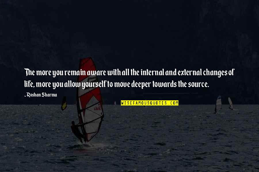 Remain Yourself Quotes By Roshan Sharma: The more you remain aware with all the