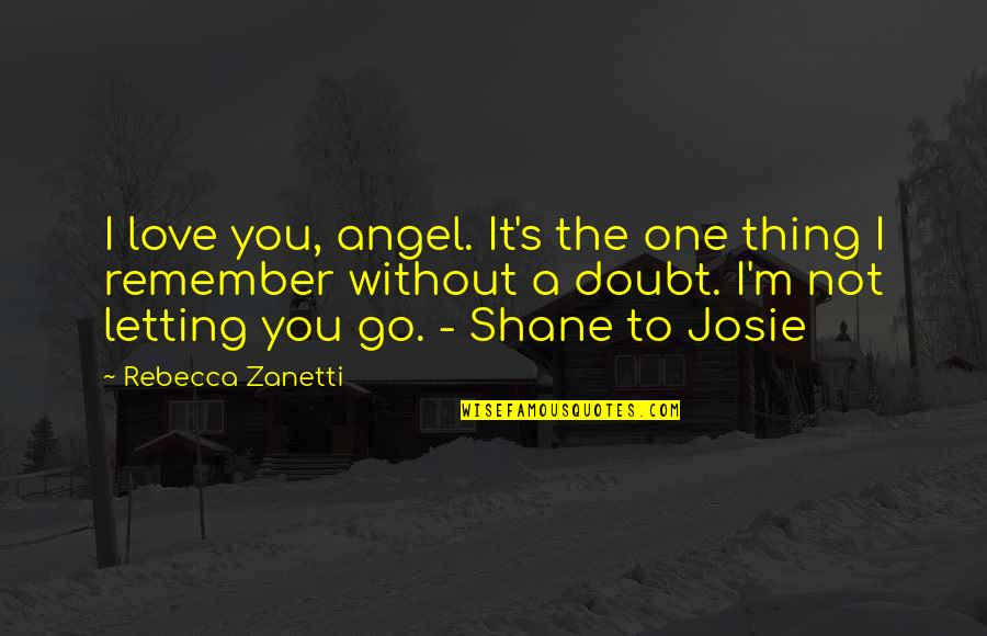 Remember One Thing Quotes By Rebecca Zanetti: I love you, angel. It's the one thing
