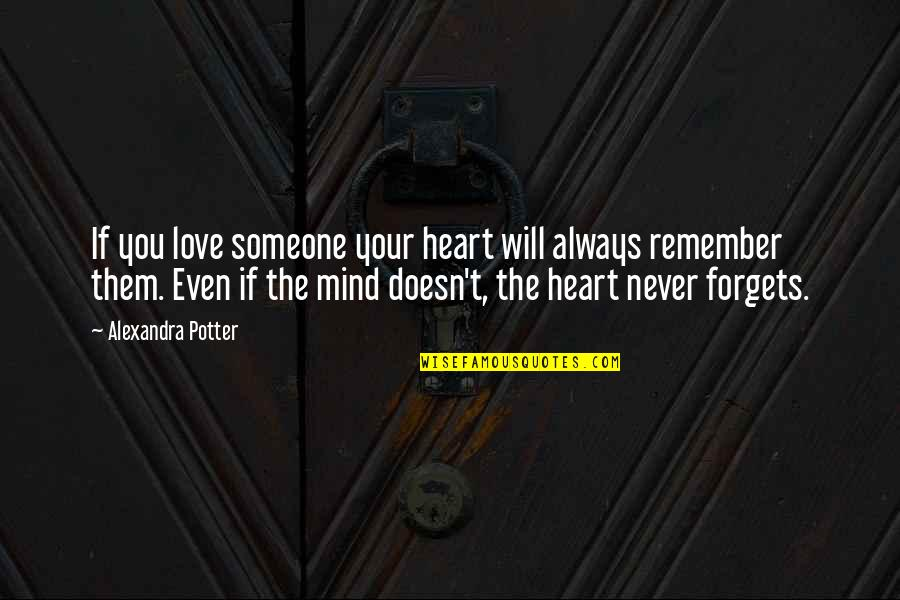 Remember We Love You Quotes By Alexandra Potter: If you love someone your heart will always