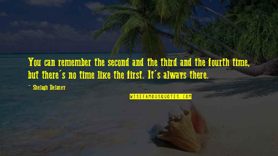 Remember You Always Quotes By Shelagh Delaney: You can remember the second and the third