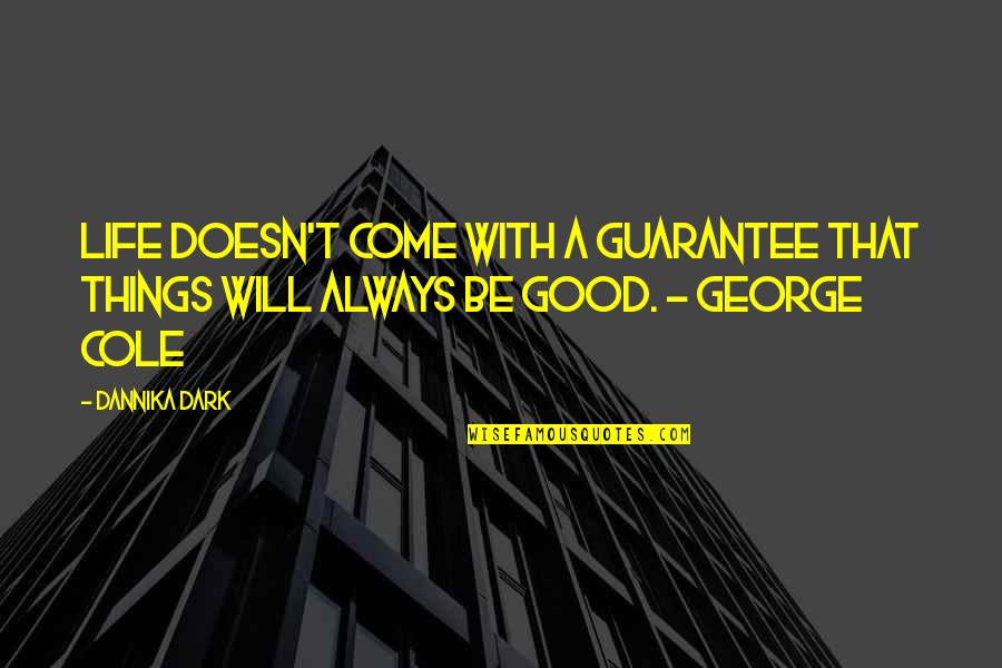 Remembering To Have Fun Quotes By Dannika Dark: Life doesn't come with a guarantee that things