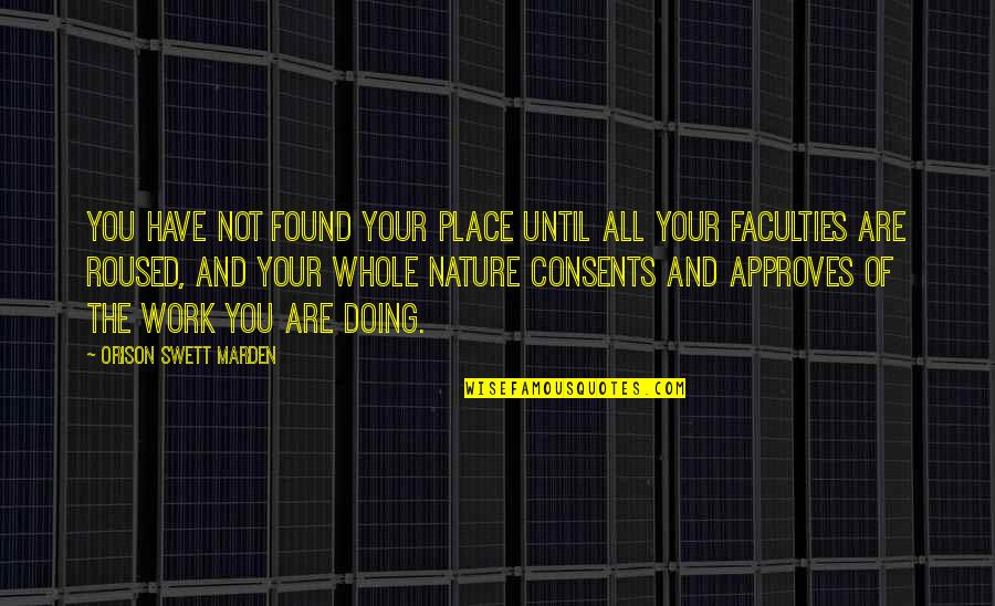 Remembering To Have Fun Quotes By Orison Swett Marden: You have not found your place until all