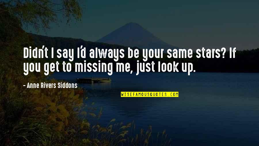 Remembering You Quotes By Anne Rivers Siddons: Didn't I say I'd always be your same