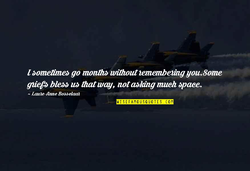 Remembering You Quotes By Laure-Anne Bosselaar: I sometimes go months without remembering you.Some griefs