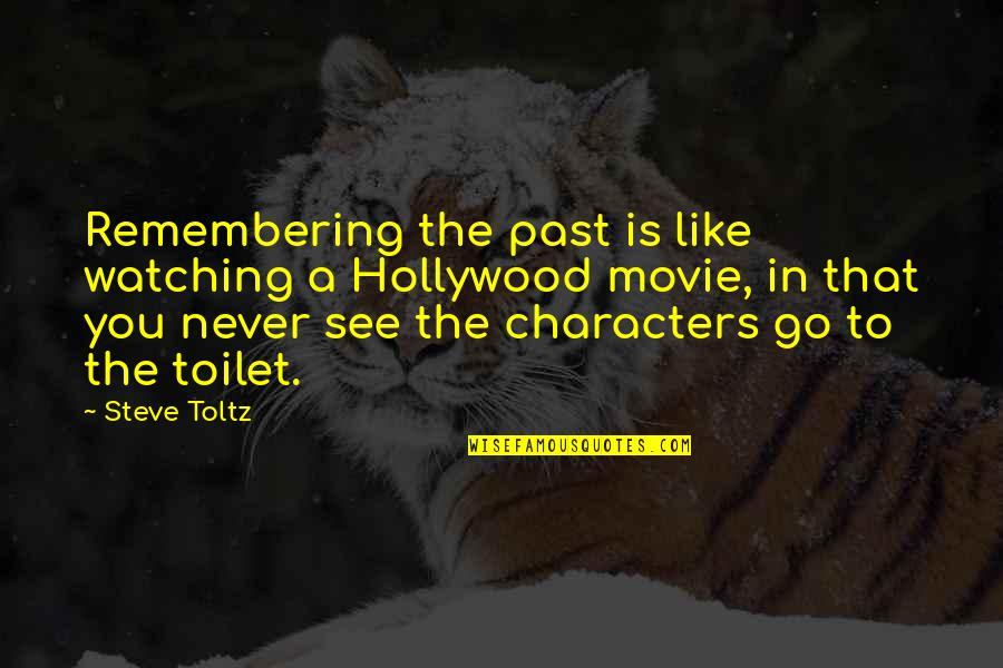 Remembering You Quotes By Steve Toltz: Remembering the past is like watching a Hollywood