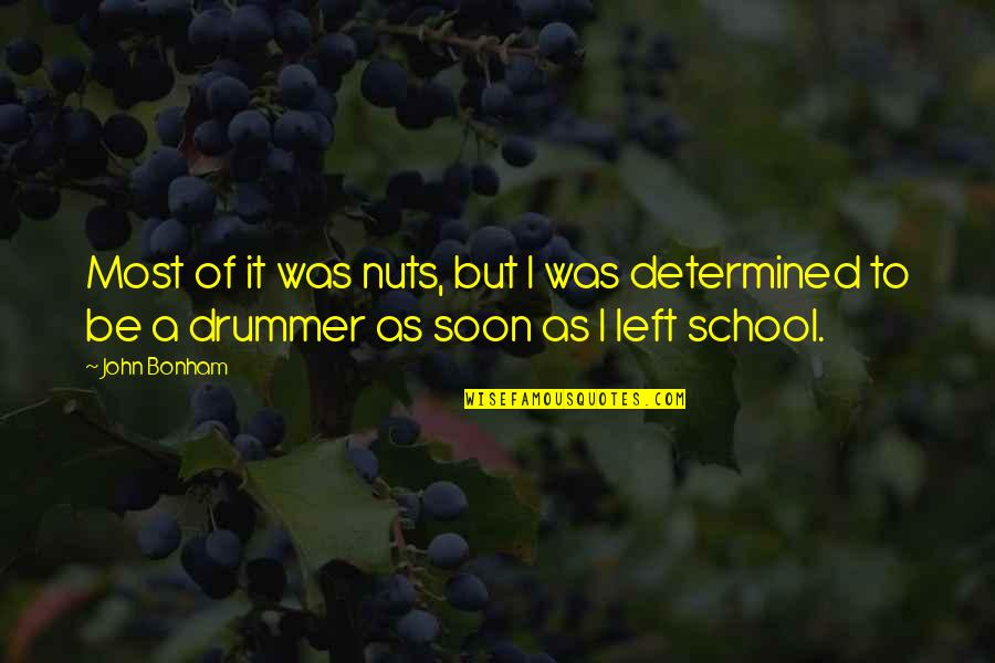 Reminiscence Of Past Quotes By John Bonham: Most of it was nuts, but I was