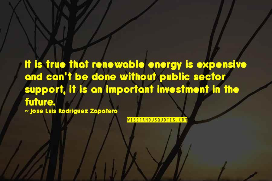 Renewable Energy Future Quotes By Jose Luis Rodriguez Zapatero: It is true that renewable energy is expensive