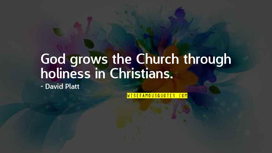 Repentance Quotes By David Platt: God grows the Church through holiness in Christians.