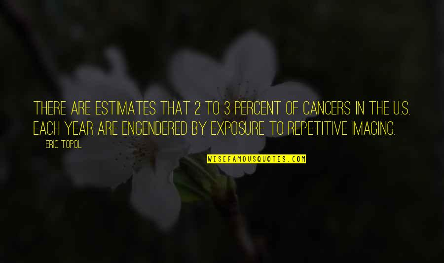 Repetitive Quotes By Eric Topol: There are estimates that 2 to 3 percent
