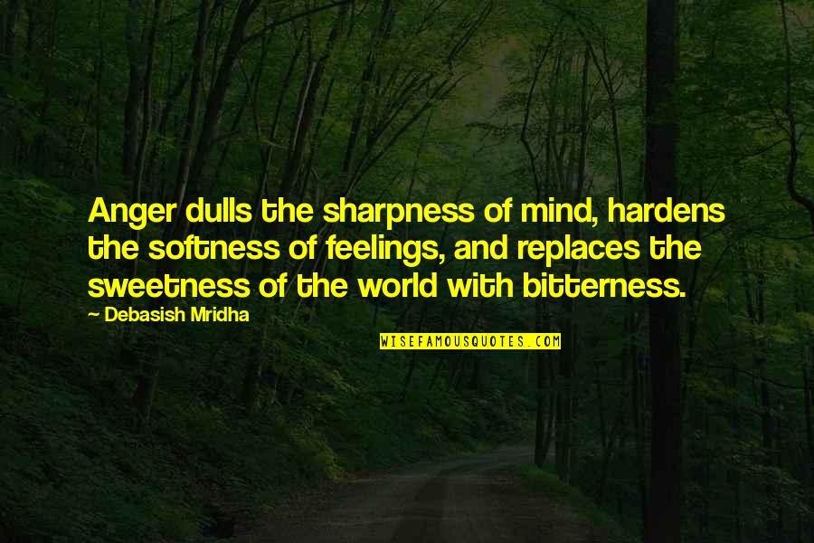 Replaces Quotes By Debasish Mridha: Anger dulls the sharpness of mind, hardens the