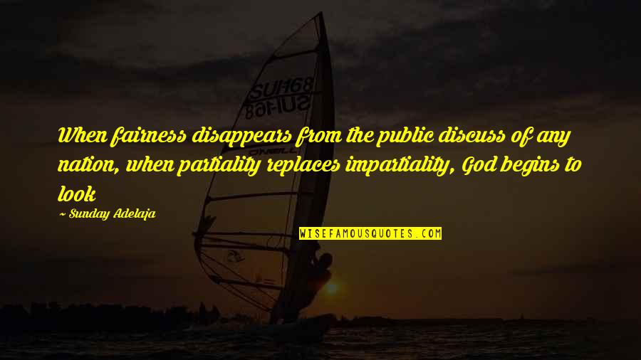 Replaces Quotes By Sunday Adelaja: When fairness disappears from the public discuss of