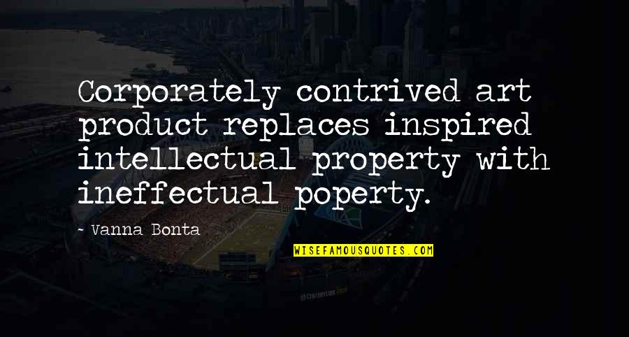 Replaces Quotes By Vanna Bonta: Corporately contrived art product replaces inspired intellectual property