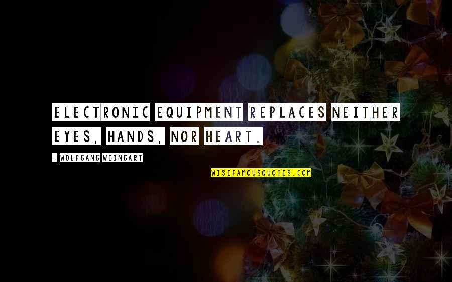 Replaces Quotes By Wolfgang Weingart: Electronic equipment replaces neither Eyes, Hands, nor Heart.