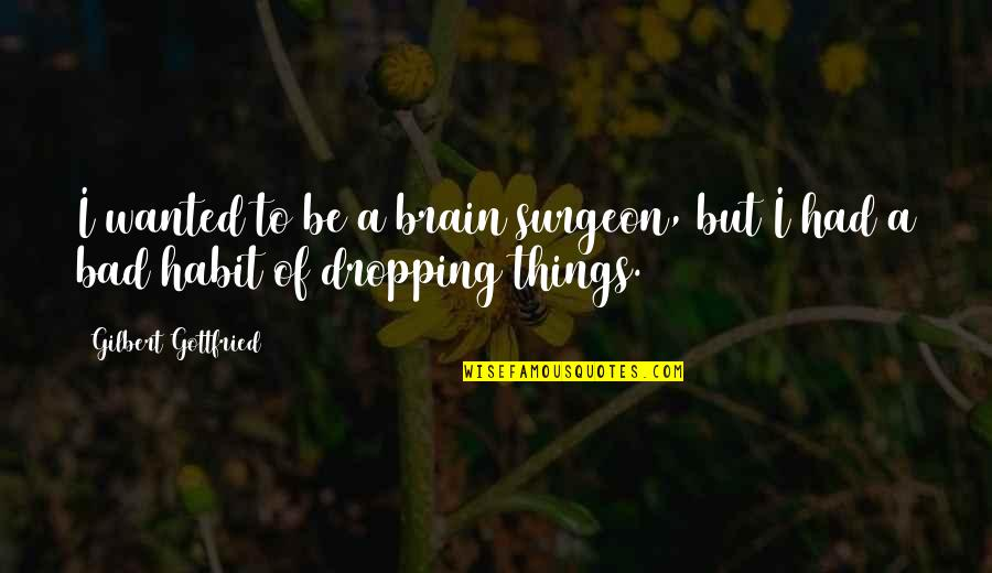 Replying Quotes By Gilbert Gottfried: I wanted to be a brain surgeon, but