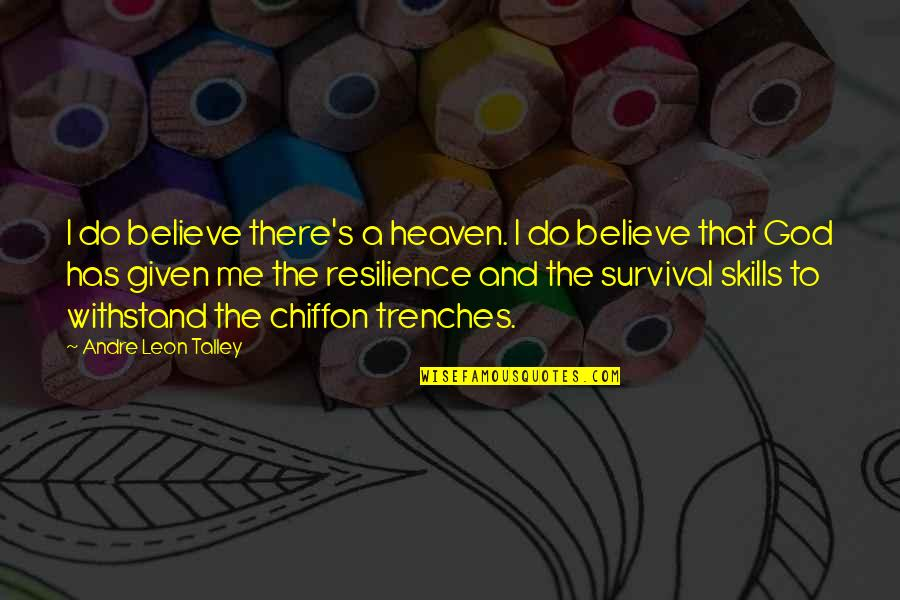 Resilience Quotes By Andre Leon Talley: I do believe there's a heaven. I do