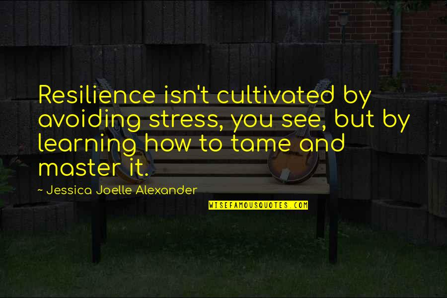 Resilience Quotes By Jessica Joelle Alexander: Resilience isn't cultivated by avoiding stress, you see,