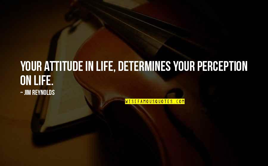 Resilience Quotes By Jim Reynolds: Your attitude in life, determines your perception on