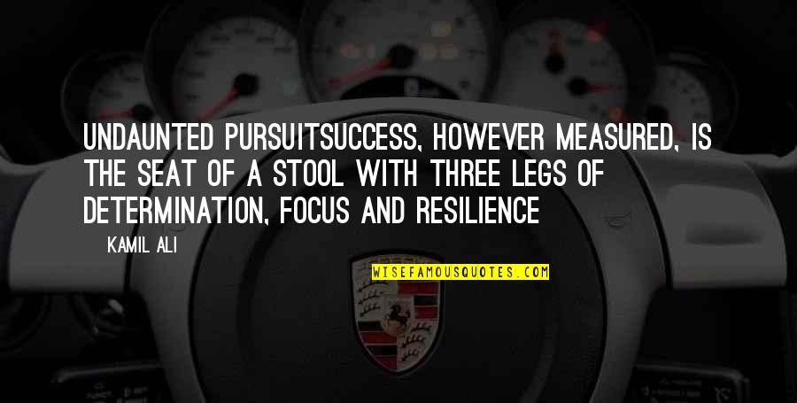 Resilience Quotes By Kamil Ali: UNDAUNTED PURSUITSuccess, however measured, is the seat of