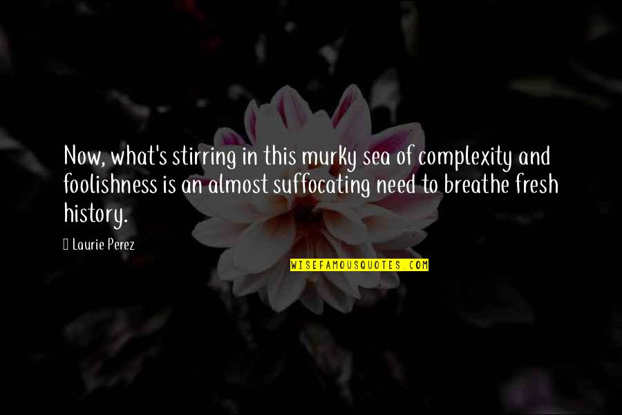 Resilience Quotes By Laurie Perez: Now, what's stirring in this murky sea of
