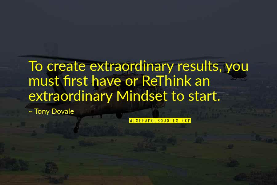 Resilience Quotes By Tony Dovale: To create extraordinary results, you must first have