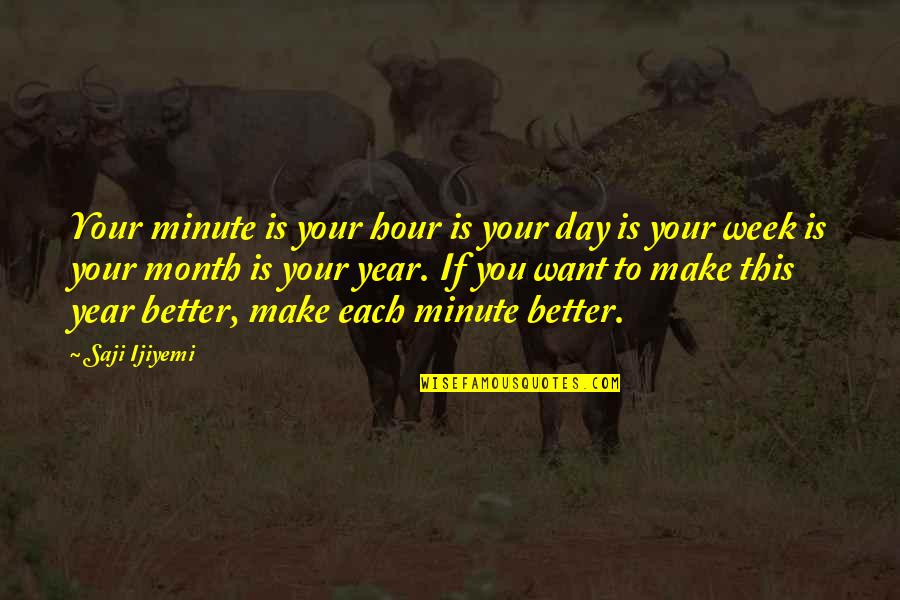 Resolutions Quotes By Saji Ijiyemi: Your minute is your hour is your day