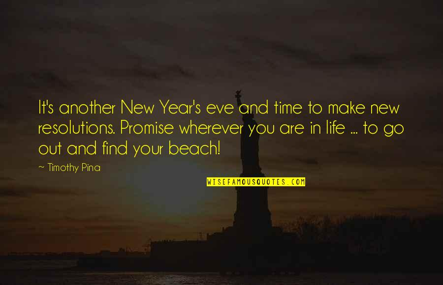 Resolutions Quotes By Timothy Pina: It's another New Year's eve and time to