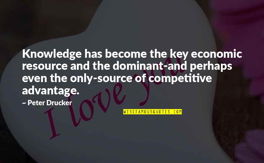 Resource Management Quotes By Peter Drucker: Knowledge has become the key economic resource and