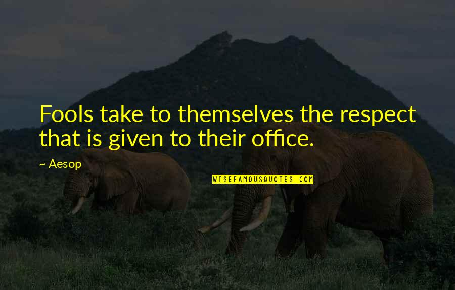 Respect Given Quotes By Aesop: Fools take to themselves the respect that is