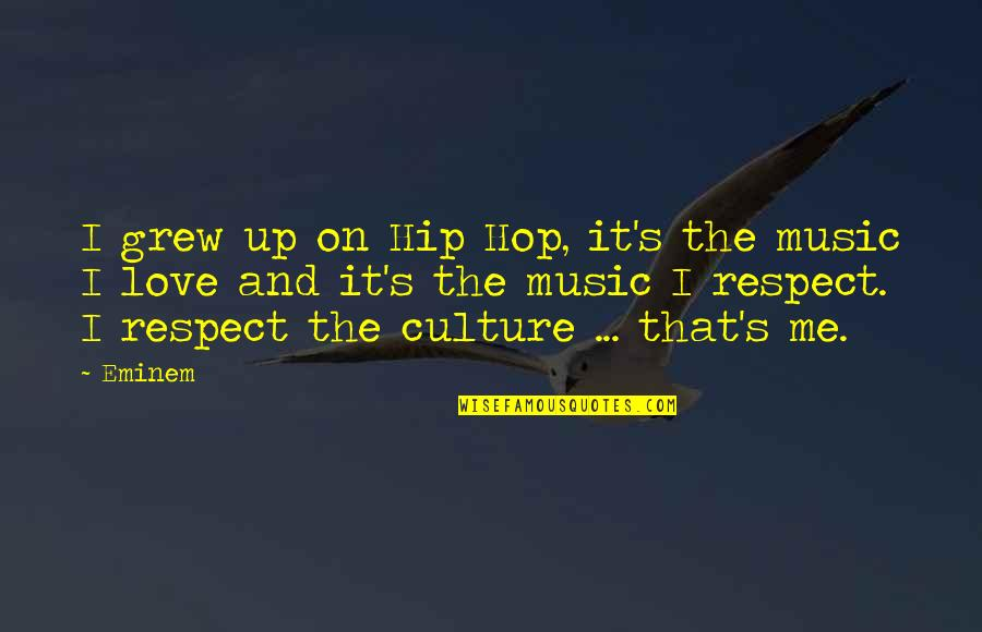 Respect Without Love Quotes By Eminem: I grew up on Hip Hop, it's the