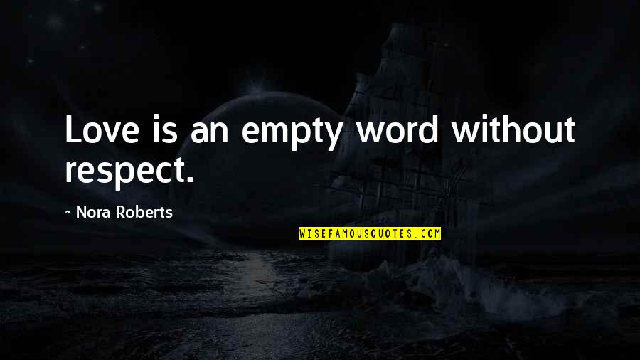 Respect Without Love Quotes By Nora Roberts: Love is an empty word without respect.