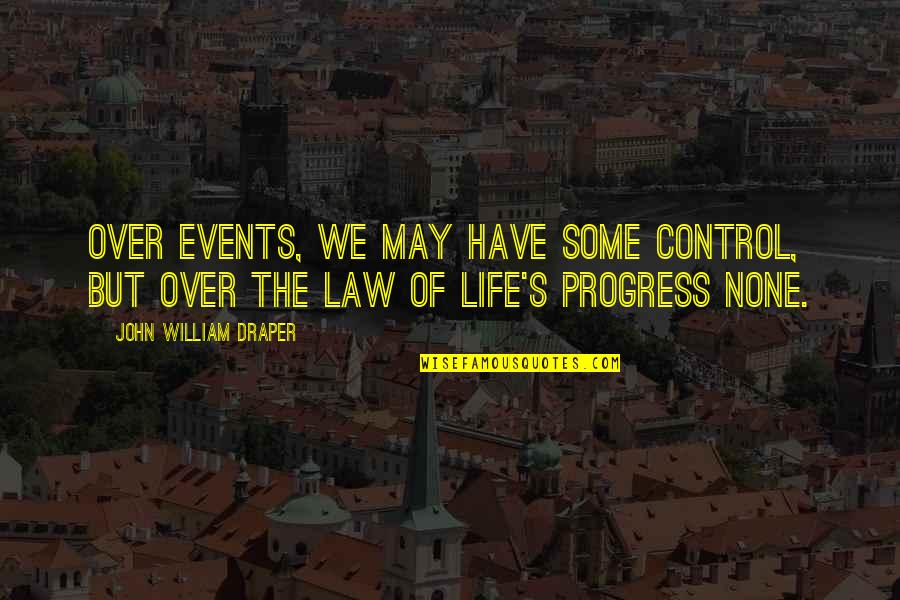 Responisble Quotes By John William Draper: Over events, we may have some control, but