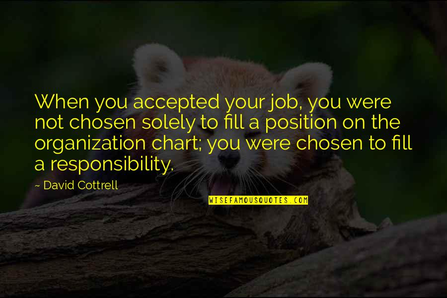 Responsibility Of Leadership Quotes By David Cottrell: When you accepted your job, you were not