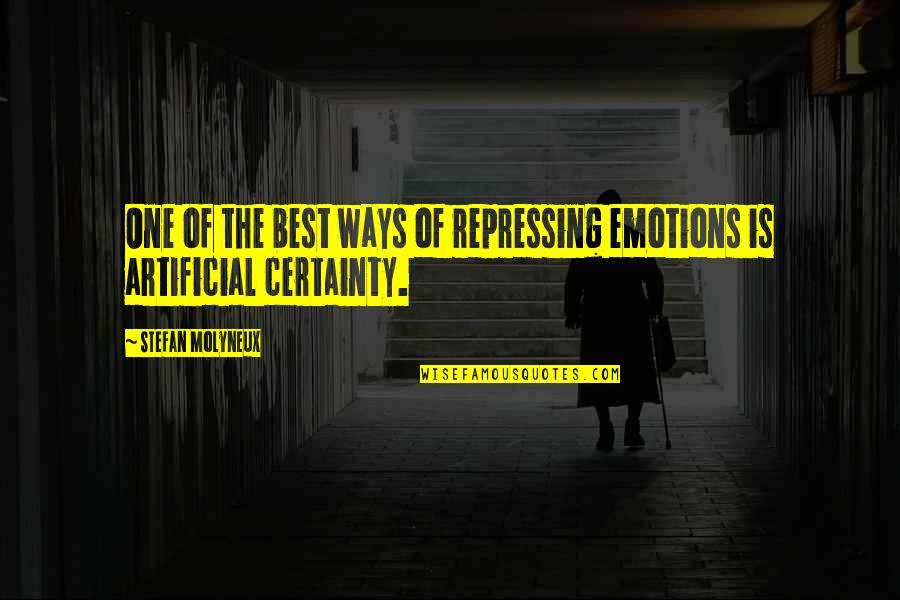 Resting Head On Shoulder Quotes By Stefan Molyneux: One of the best ways of repressing emotions