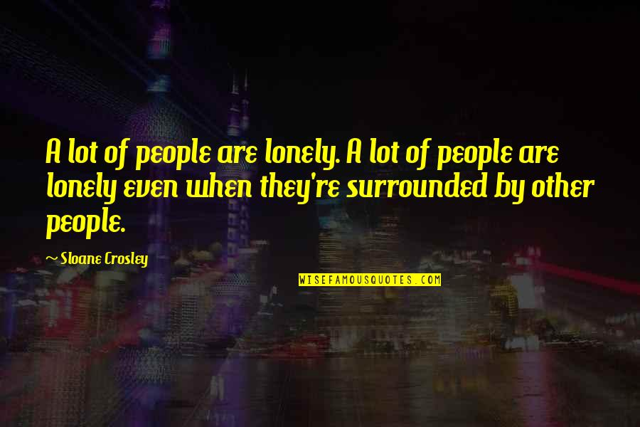 Retirement Banners Quotes By Sloane Crosley: A lot of people are lonely. A lot