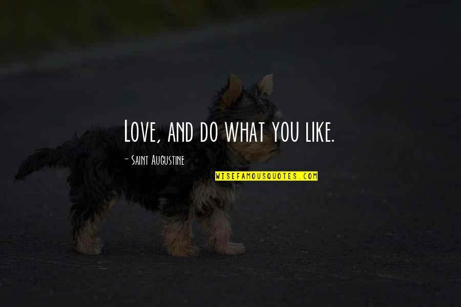 Retirement Slideshow Quotes By Saint Augustine: Love, and do what you like.