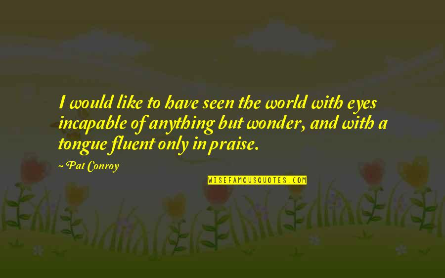 Return The Slab Quotes By Pat Conroy: I would like to have seen the world