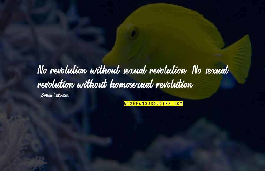Revolution Quotes By Bruce LaBruce: No revolution without sexual revolution. No sexual revolution