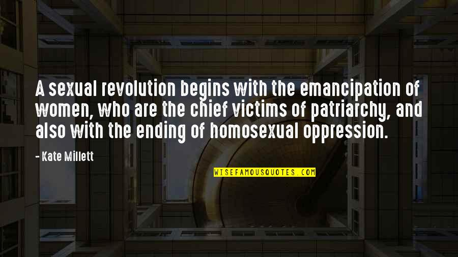 Revolution Quotes By Kate Millett: A sexual revolution begins with the emancipation of