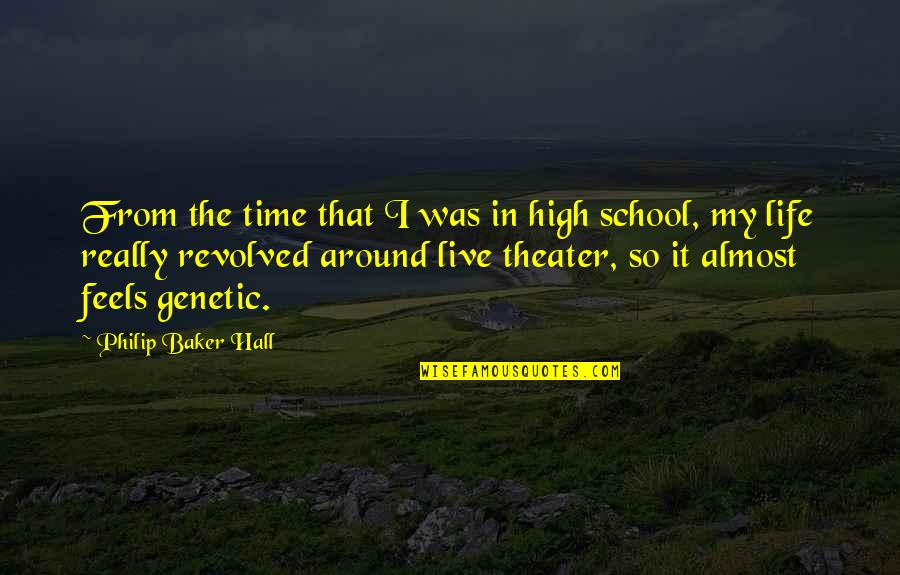 Revolved Quotes By Philip Baker Hall: From the time that I was in high