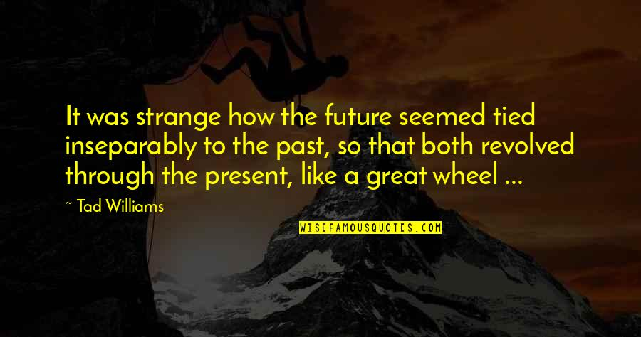 Revolved Quotes By Tad Williams: It was strange how the future seemed tied