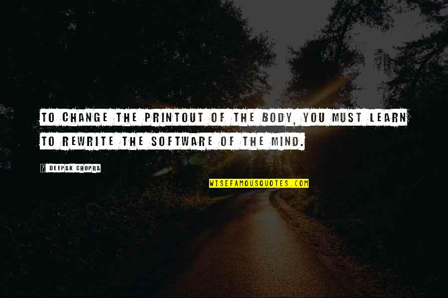 Rewrite Quotes By Deepak Chopra: To change the printout of the body, you