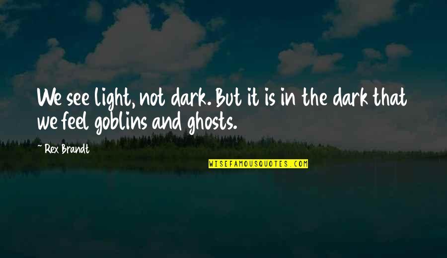 Rex Brandt Quotes By Rex Brandt: We see light, not dark. But it is