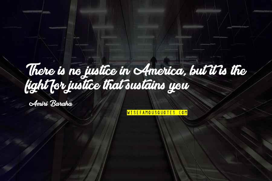 Rhino Quotes By Amiri Baraka: There is no justice in America, but it