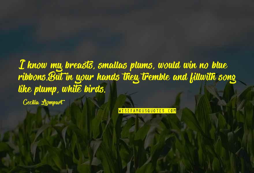 Ribbons Quotes By Cecilia Llompart: I know my breasts, smallas plums, would win