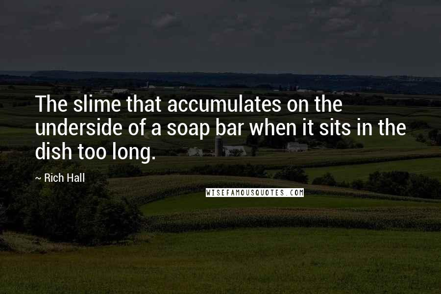 Rich Hall quotes: The slime that accumulates on the underside of a soap bar when it sits in the dish too long.