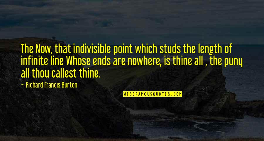 Richard Burton Quotes By Richard Francis Burton: The Now, that indivisible point which studs the