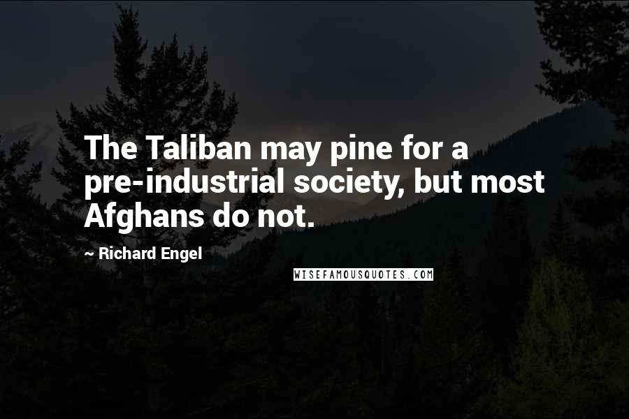 Richard Engel quotes: The Taliban may pine for a pre-industrial society, but most Afghans do not.