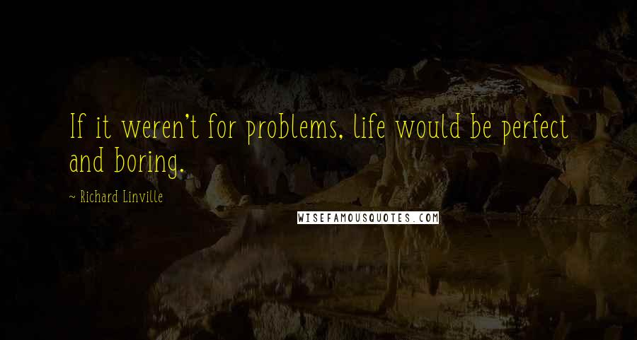 Richard Linville quotes: If it weren't for problems, life would be perfect and boring.